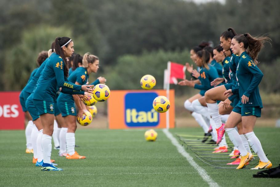Clima em primeiro treino da Seleção Brasileira nos EUA é de confiança - Olimpia Sports