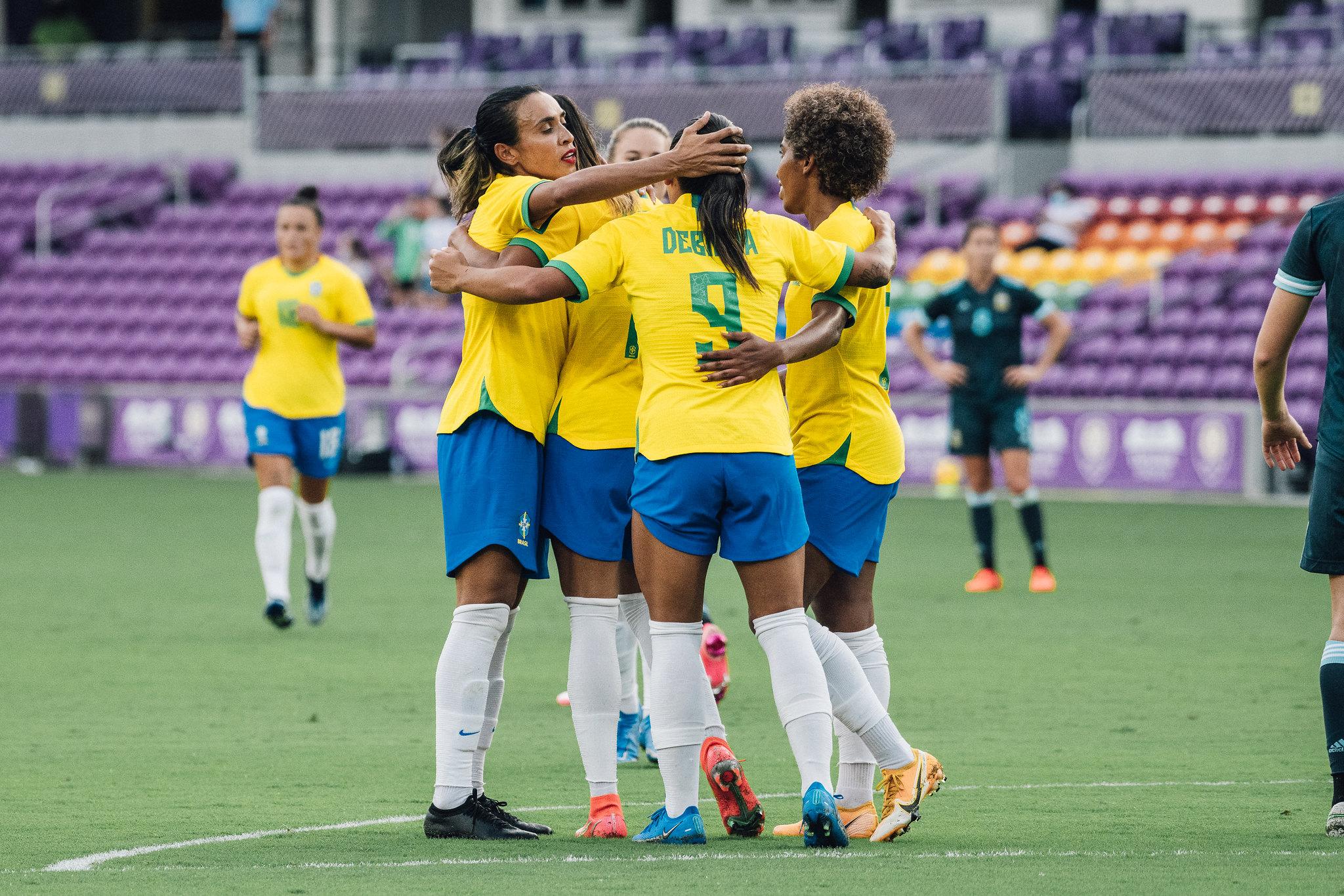 Brasil vence a Argentina por 4 a 1 em estreia no Torneio She Believes - Olimpia Sports