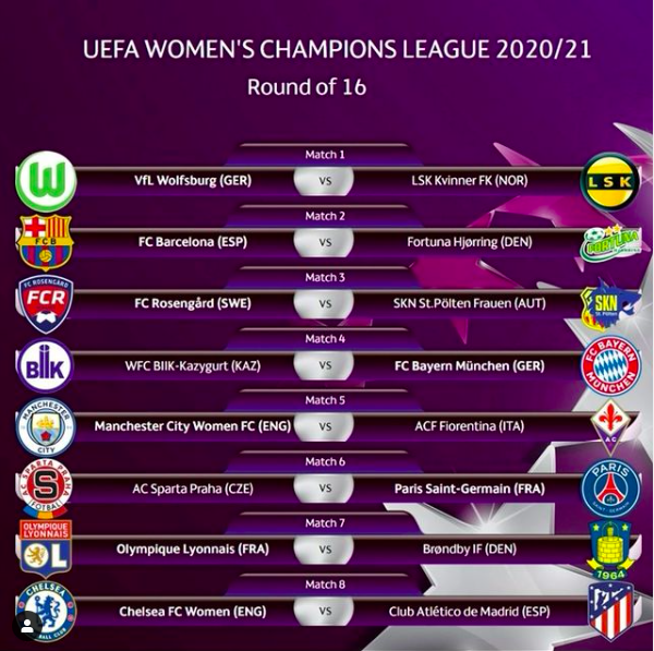 Definidos os confrontos das oitavas de final da Champions League Feminina - Olimpia Sports