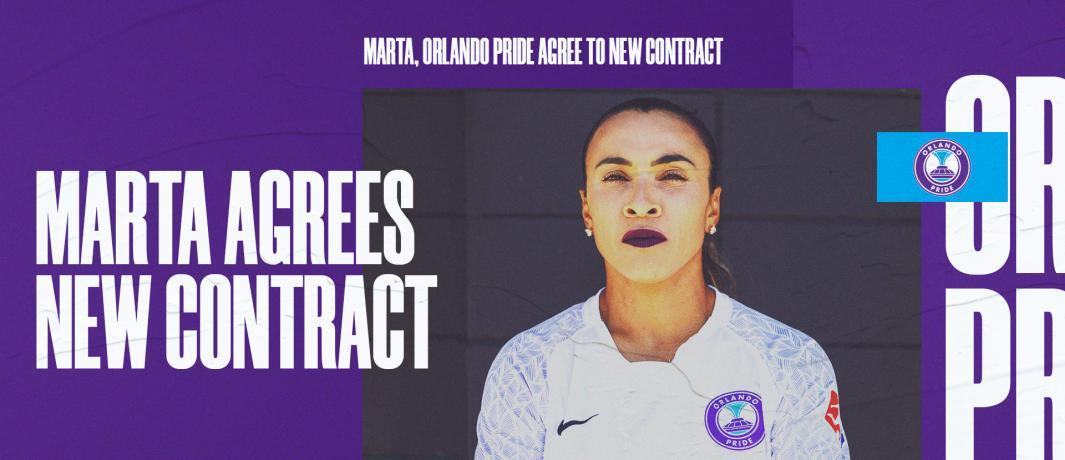 Orlando Pride anuncia renovação do contrato de Marta até 2022 - Olimpia Sports