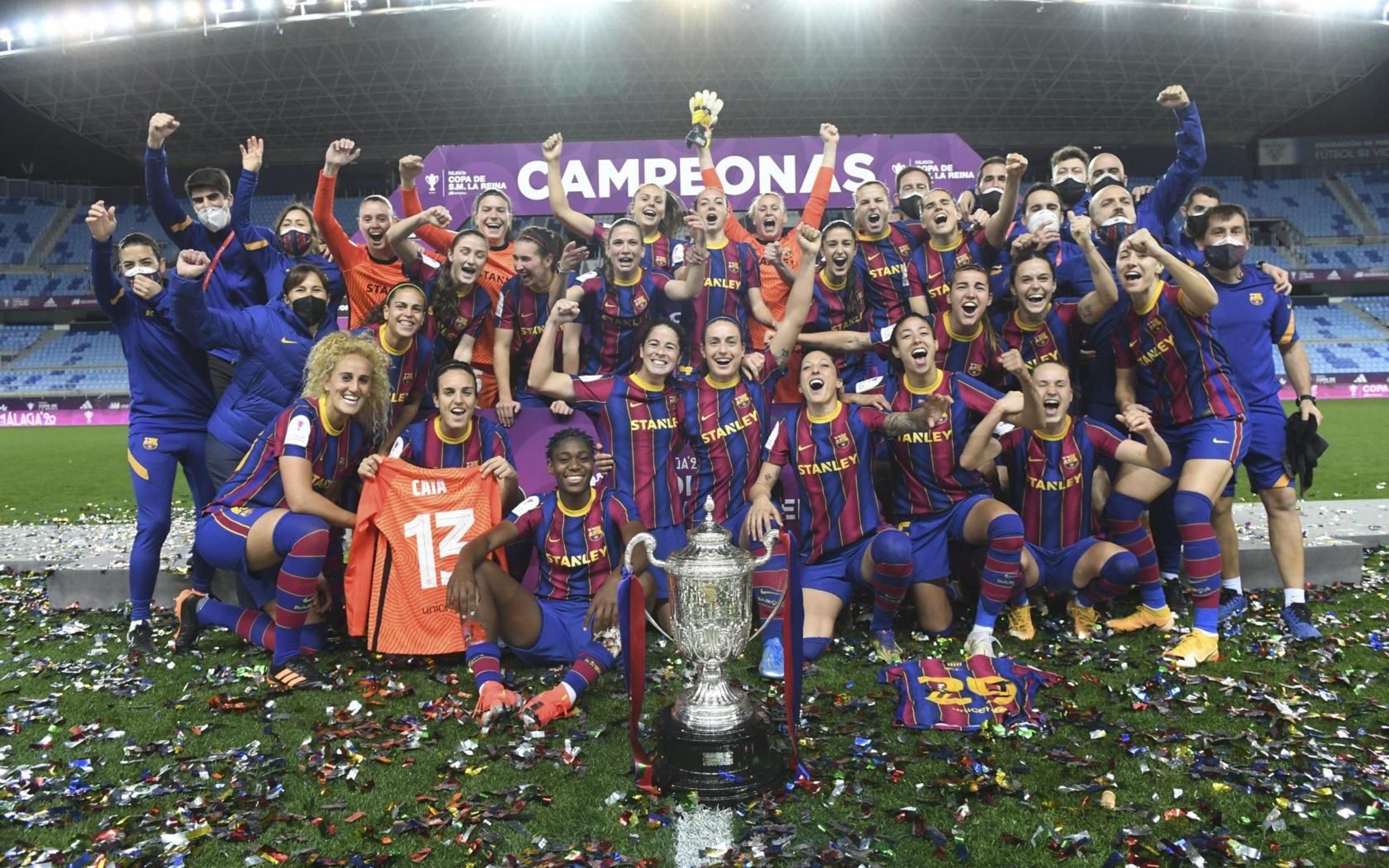 Rainhas das Copas: Barcelona vence Logroño por 3 a 0 e leva o sétimo título para a Catalunha - Olimpia Sports