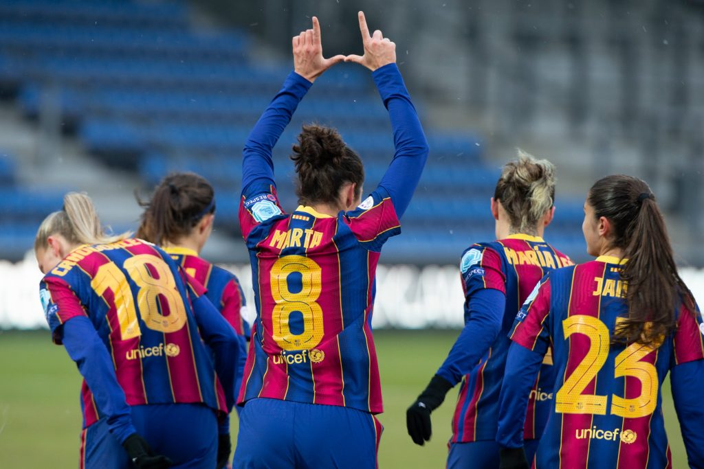Barcelona, Bayern e Rosengard passam para a próxima fase da Champions Feminina - Olimpia Sports