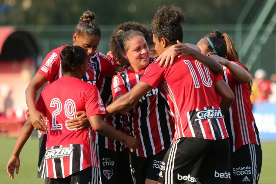 Duda marcou o gol que deu a vitória ao São Paulo contra o Iranduba no Brasileirão Feminino A-1 Créditos: Divulgação/São Paulo