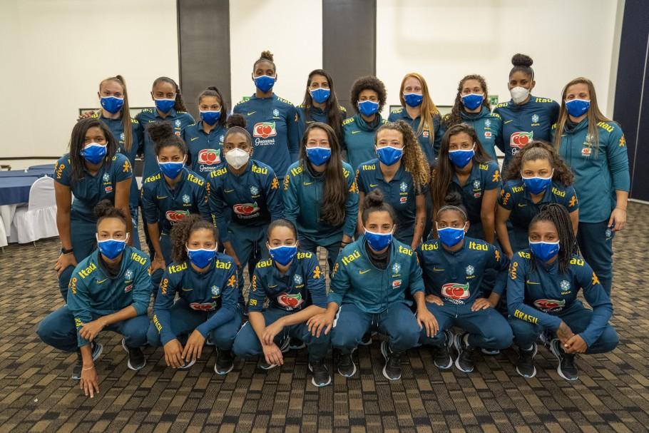 Seleção Feminina Sub-20 no México Créditos: joilson Marconne / CBFTV