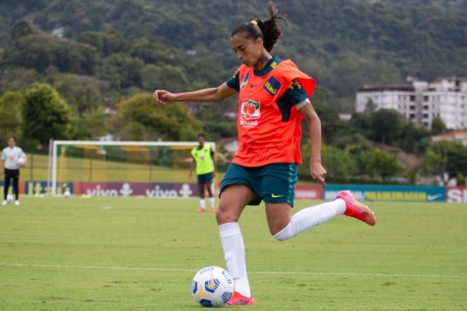 Andressa Alves acredita na troca de experiências na preparação para os Jogos de Tóquio | Foto: Sam Robles/CBF