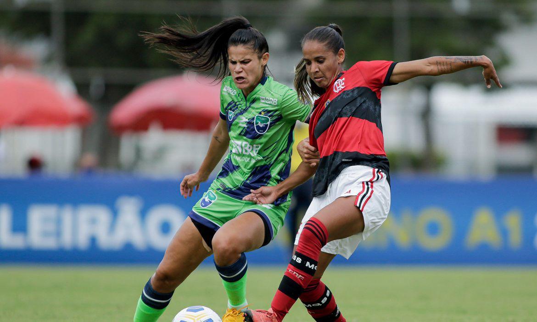 Flamengo e Minas Brasília Brasileirão Feminino 2021 Adriano Fontes / Minas Brasília