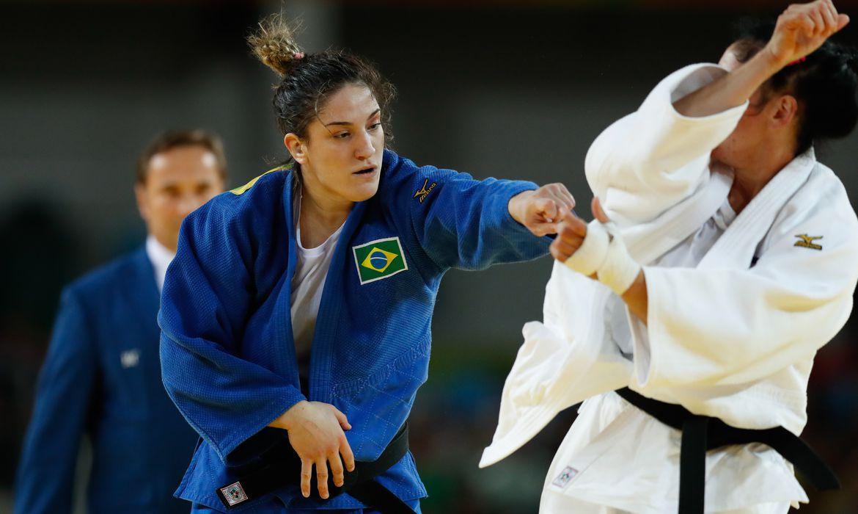 Rio de Janeiro - A judoca brasileira Mayra Aguiar venceu a cubana Yalennis Castillo, na categoria até 78 quilos, e ganhou a medalha de bronze na Rio 2016 (Fernando Frazão/Agência Brasil)