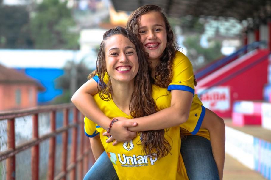 Dia das Mães: Carla, mãe da Ana Beatriz e zagueira do Avaí/Kindermann Créditos: Andrielli Zambonin/Avaí Kindermann