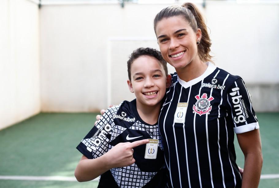 Dias das Mães: Tamires, mãe do Bernardo e lateral do Corinthians Créditos: Livia Villas Boas / Staff Images Women