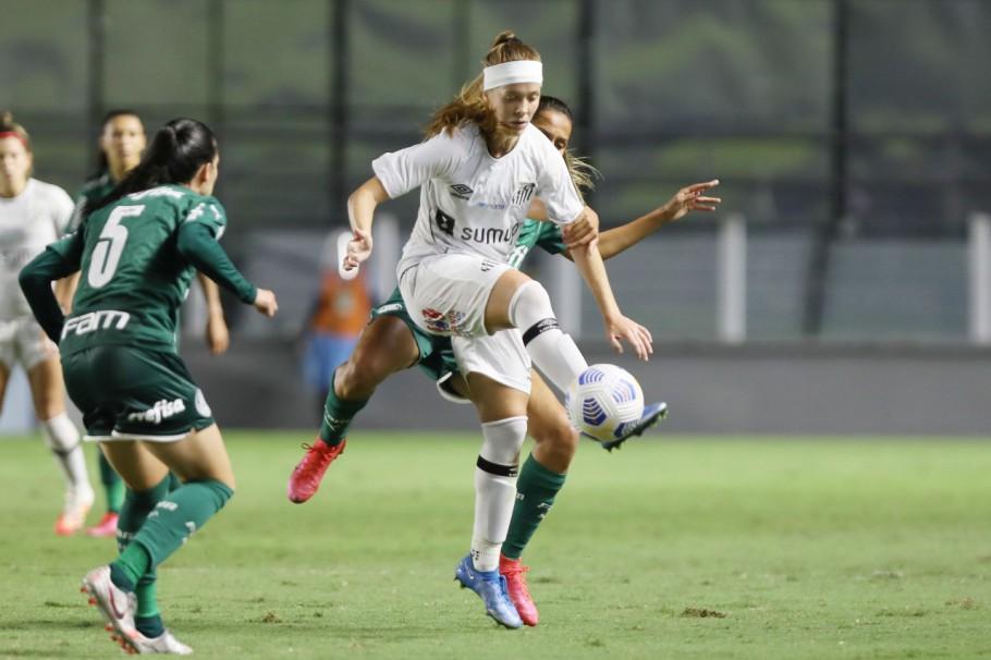 Santos x Palmeiras pelo Brasileiro Feminino A-1 Créditos: Divulgação/Santos