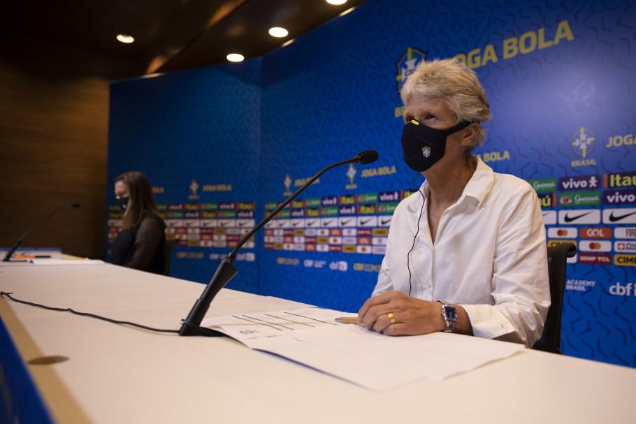 Convocação da Seleção Feminina para os jogos preparatórios em Cartagena Créditos: Lucas Figueiredo/CBF
