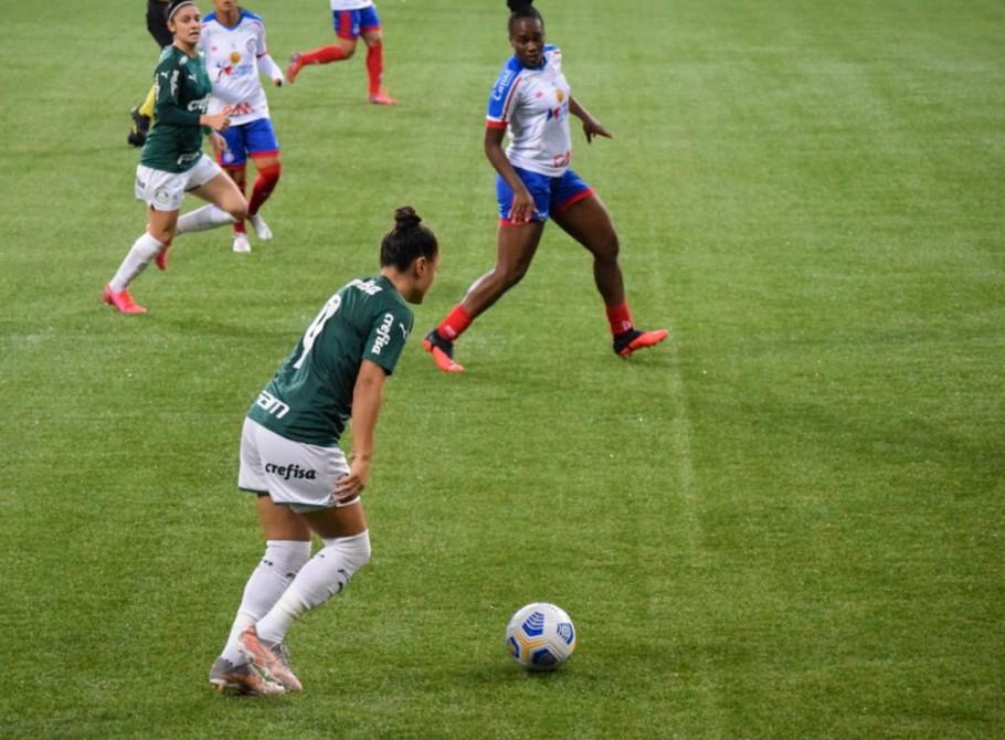 O Verdão venceu o Bahia por 1 a 0 e segue na vice-liderança, um ponto atrás do Corinthians Créditos: Priscila Pedroso/Palmeiras