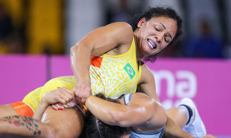 aline_silva_wrestling_pan_de_lima-2 | Foto: Abelardo Mendes Jr. / rededoesporte.gov.br/direitos reservados