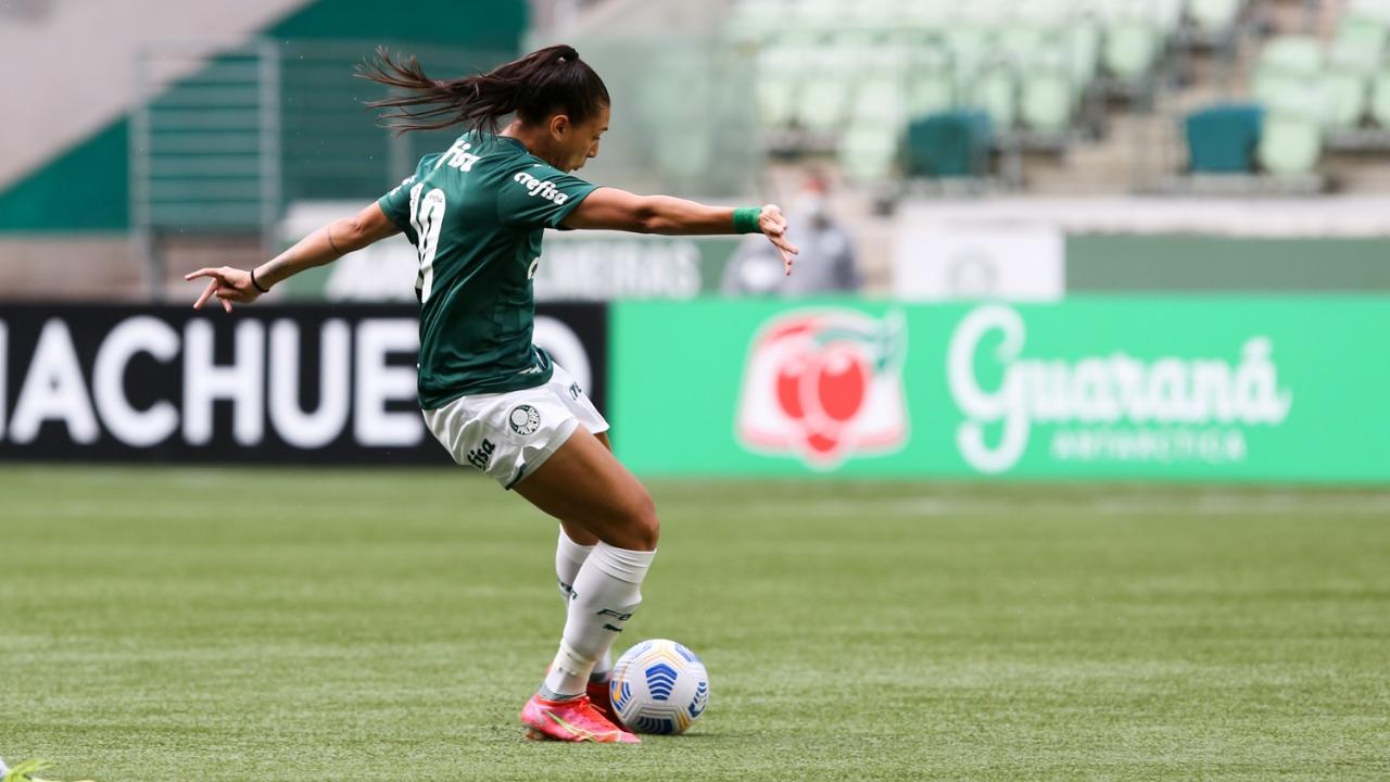 Bia Zaneratto marcou seu quinto gol com a camisa alviverde, no Brasileiro Feminino (Foto: Fabio Menotti/Palmeiras)