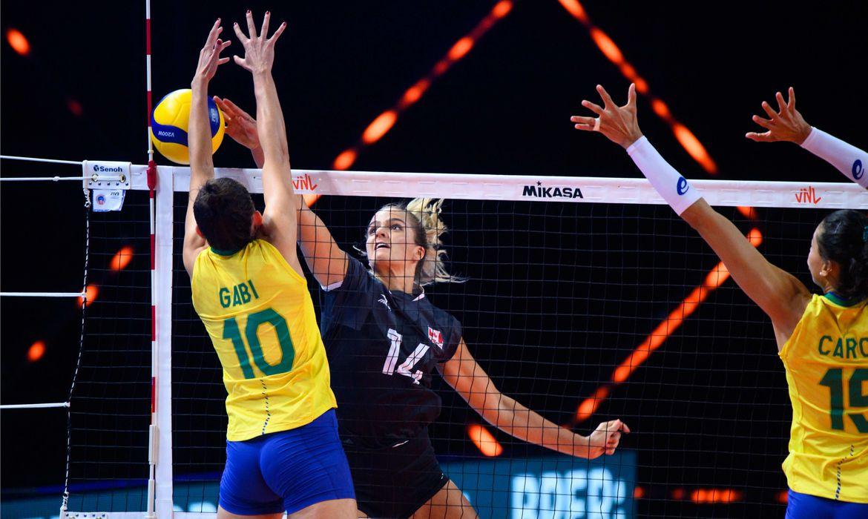 Brasil x Canadá Super Liga das Nações 2021 | Foto: Divulgação / FIVB / Direitos Reservados
