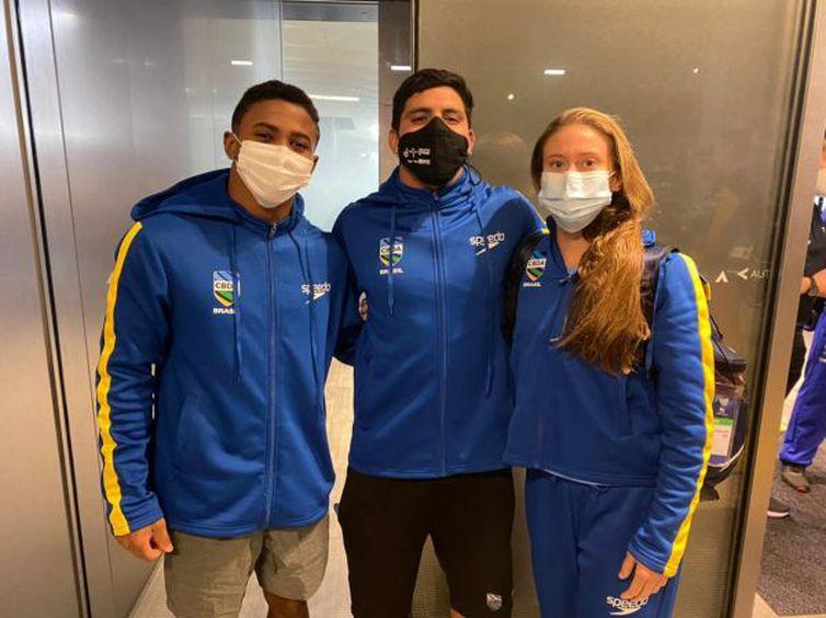 Isaac Souza, Kawan Pereira e Ingrid Oliveira se classificaram à Olimpíada de Tóquio no último dia 3, na Copa do Mundo de Saltos Ornamentais, realizada na capital japonesa. CBDA/Divulgação