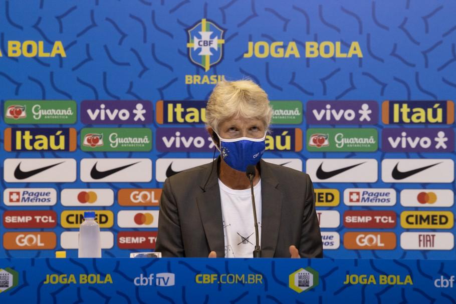Convocação da Seleção Brasileira Feminina para o Torneio She Believes. Pia Sundhage Créditos: Lucas Figueiredo/CBF