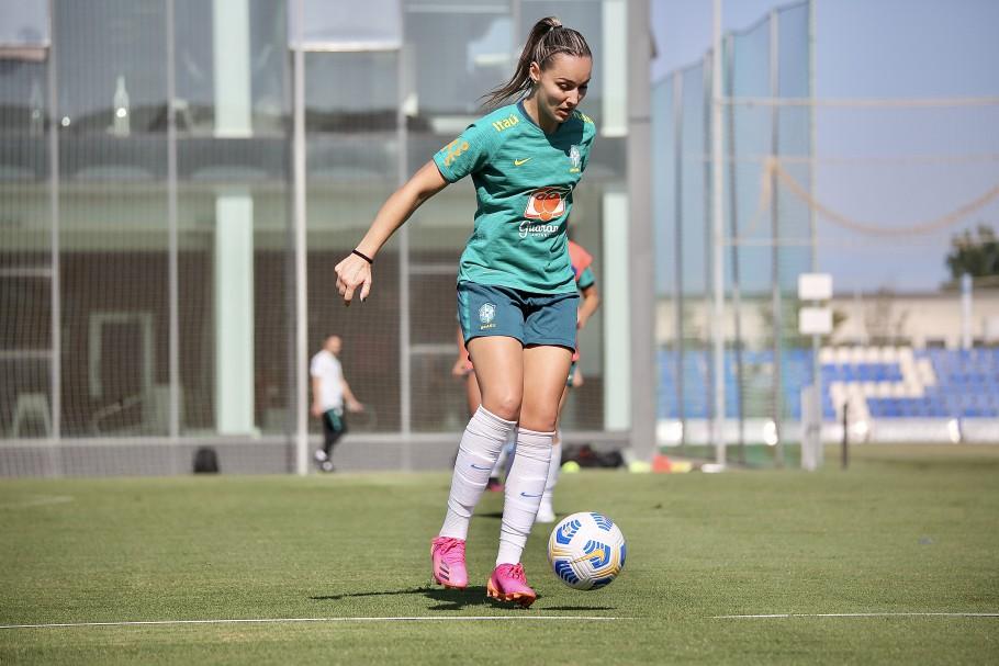 Pia Sundhage comanda primeiro treino da Seleção Feminina Principal com grupo completo Créditos: Carolina Brito/CBF