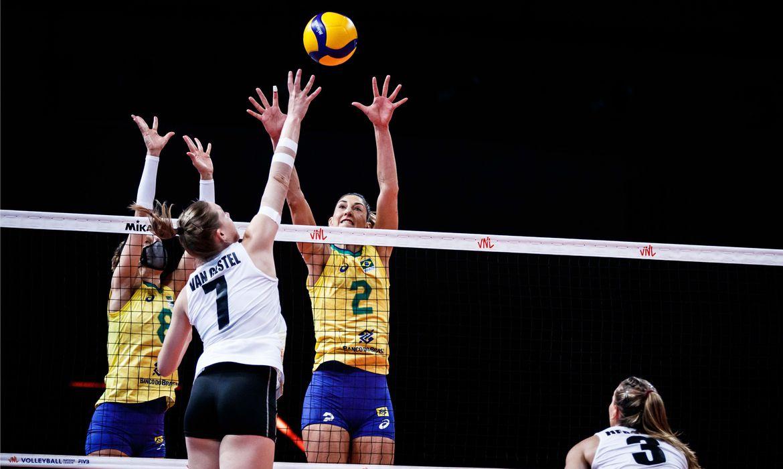 Brasil bate Bélgica e sobe na tabela da Liga das Nações feminina | Foto: Divulgação / FIVB