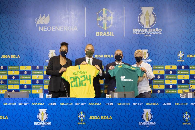 Neoenergia é anunciada como a nova patrocinadora exclusiva da Seleção Brasileira Feminina e do Brasileirão Feminino A-1. Thais Magalhães/CBF