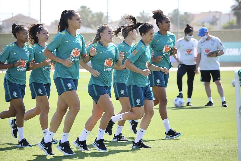 Seleção Feminina Principal faz primeiro treino em San Pedro de Pinatar  Foto: Carolina Brito/CBF