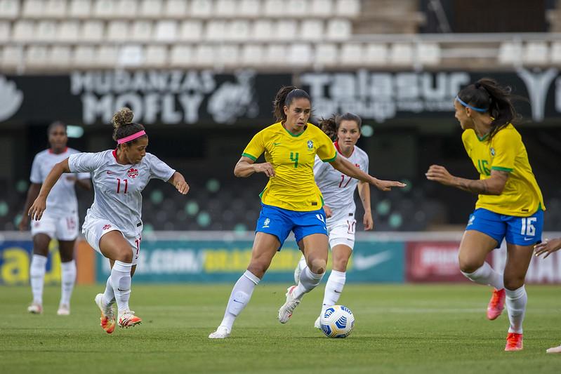 Jogo Preparatório Seleção Feminina Principal - Brasil x Canadá - 14/06/2021. Richard Callis/SPP/CBF
