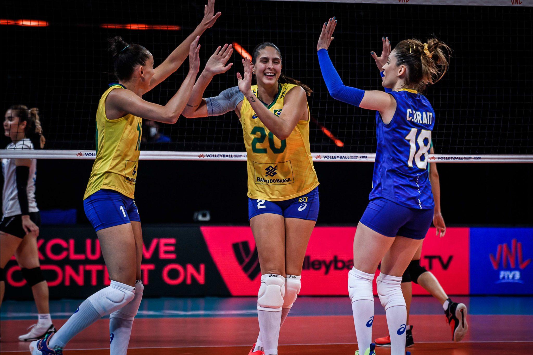 Brasil x Tailandia vôlei @volleyballworld