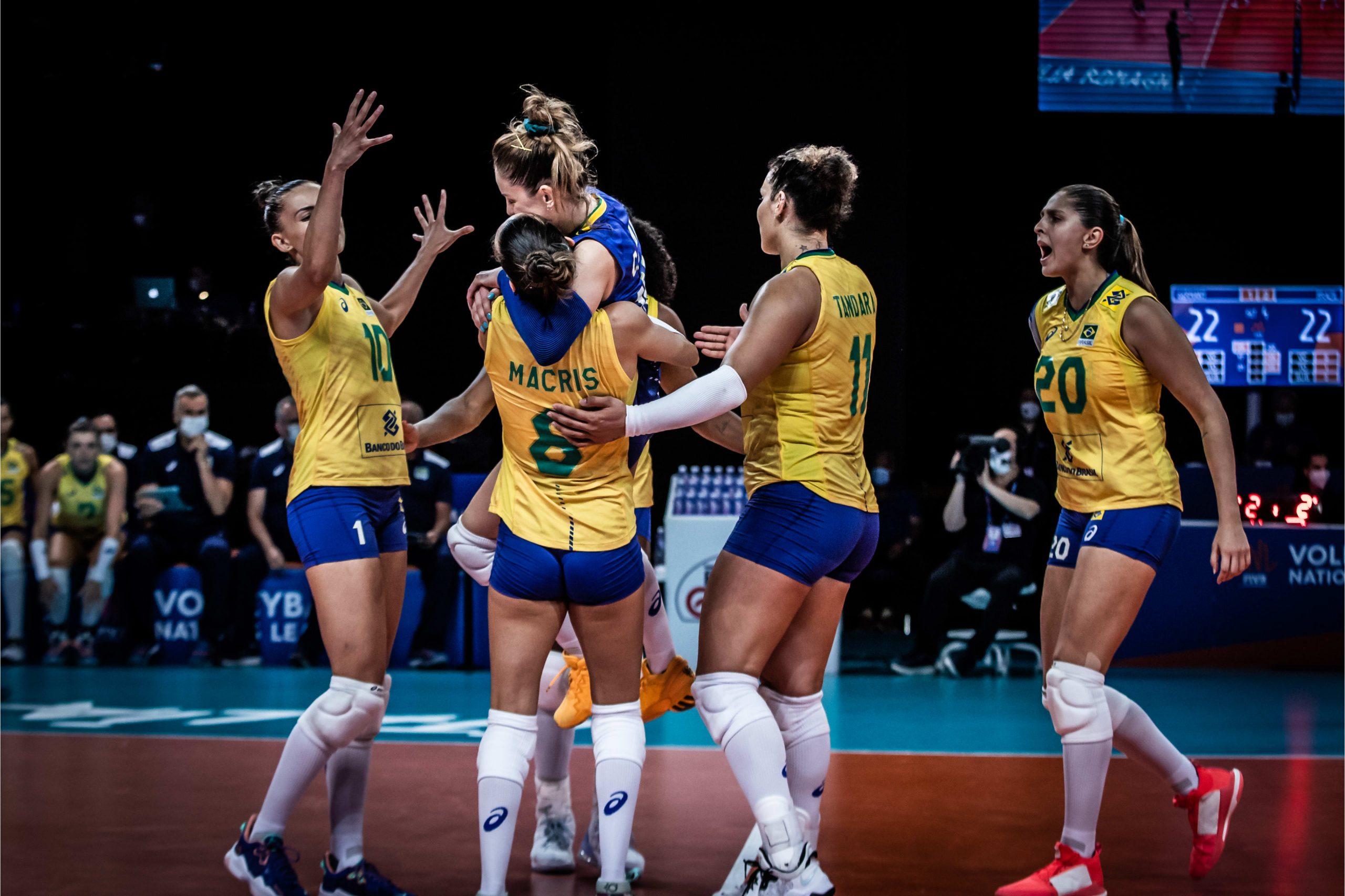 Brasil x Alemanha Liga das Nações | Foto: @volleyballworld