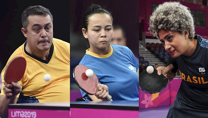 David Freitas, Marliane Santos e Millena França completam a equipe brasileira de tênis de mesa nos Jogos Paralímpicos