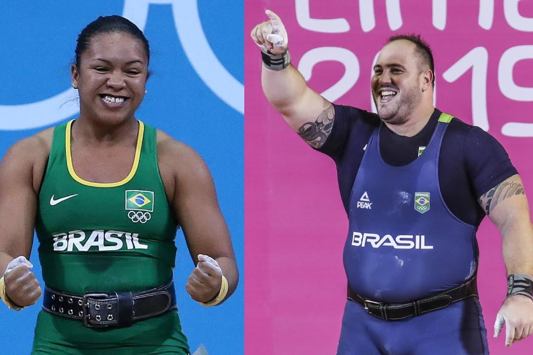 Levantamento de Peso Fernando Reis e Jaqueline Ferreira se classificam Fotos Valterci Santos e Wander Roberto:COB