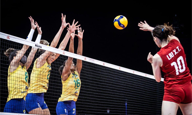Brasil x China Liga das Nações - derrota | Foto: FIVB Divulgação