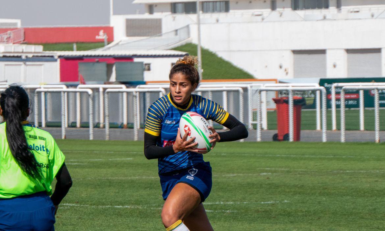 Bianca Silva Rugby Sevem Brasil Reprodução Twitter / Dubai Rugby Sevens