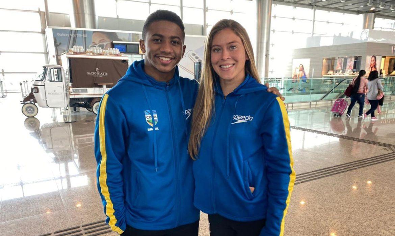 Isaac Souza e Luana Lira recuperam vaga ganha em pré-olímpico | Foto: CBDA / Divulgação