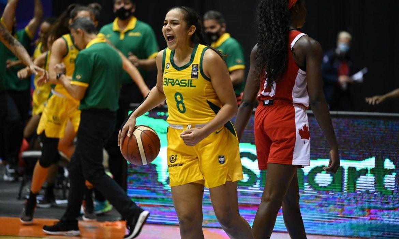 selecao_bras_fem_basquete_americup_comemora Foto: Fifa / Divulgação