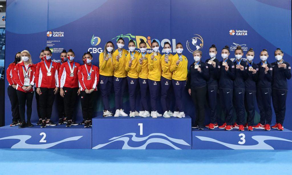 Ceremony Awards, Rhythmic Gymnastics   Gymnastics Pan American Championships Rio2021   Jun12   Rio de Janeirio, Brazil   Photo: Ricardo Bufolin / Panamerica Press / CBG