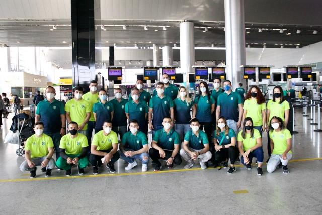 Delegação de judô em Guarulhos (SP). Foto: Gaspar Nóbrega/COB