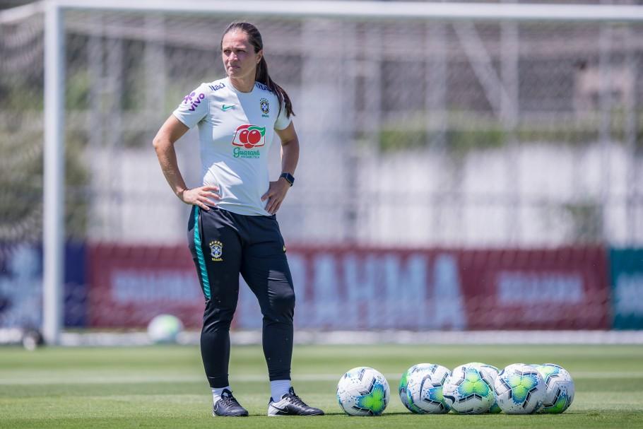 Simone Jatobá se prepara para mais um período de treinamentos em Pinheiral e na Granja Comary Créditos: Mariana Sá / CBF