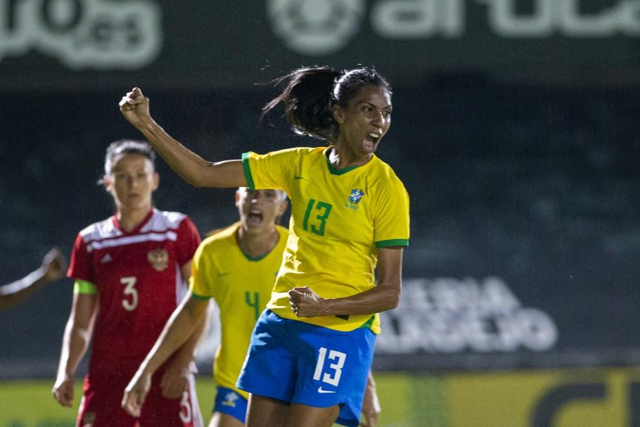 Jogo Preparatório Seleção Feminina Principal - Brasil x Rússia - 11/06/2021. Bruna Benites Créditos: Richard Callis/SPP/C