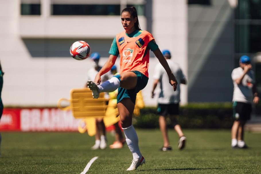 Seleção Feminina Principal faz primeiro treino em Portland. Rafaelle. Créditos: Sam Robles/CBF