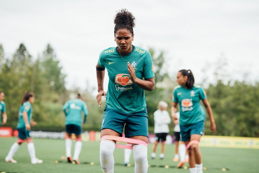 Focada no ouro, Duda treina com a Seleção Feminina em Portland Créditos: Sam Robles/CBF