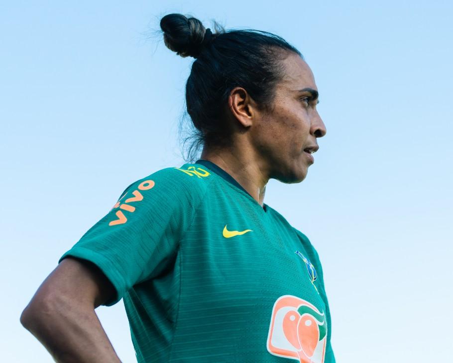 Marta no primeiro treino com a Seleção Feminina Créditos: Sam Robles/CBF