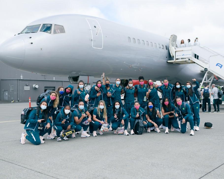 Seleção Feminina embarque para o Japão Créditos: Sam Robles/CBF
