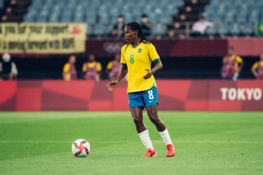 Brasil e China se enfrentaram pela rodada de abertura dos Jogos Olímpicos de Tóquio 2020. Formiga. Créditos: Sam Robles/CBF