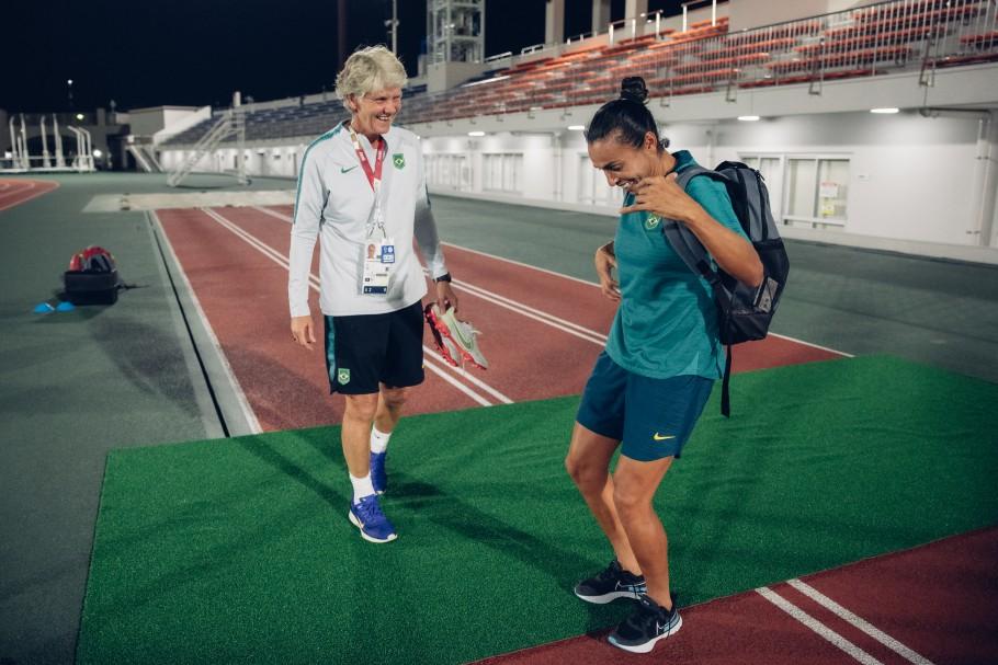 Treino da Seleção Feminina nos Jogos Olímpicos de Tóquio 2020 (26/07/2021) Créditos: Sam Robles/CBF