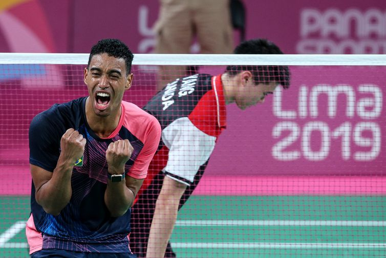 Ygor Coelho conquistou a medalha de ouro no Pan de Lima (Peru) ao derrotar na final o canadense Brian Yang por 2 sets a 0 -  Alexandre Loureiro/COB