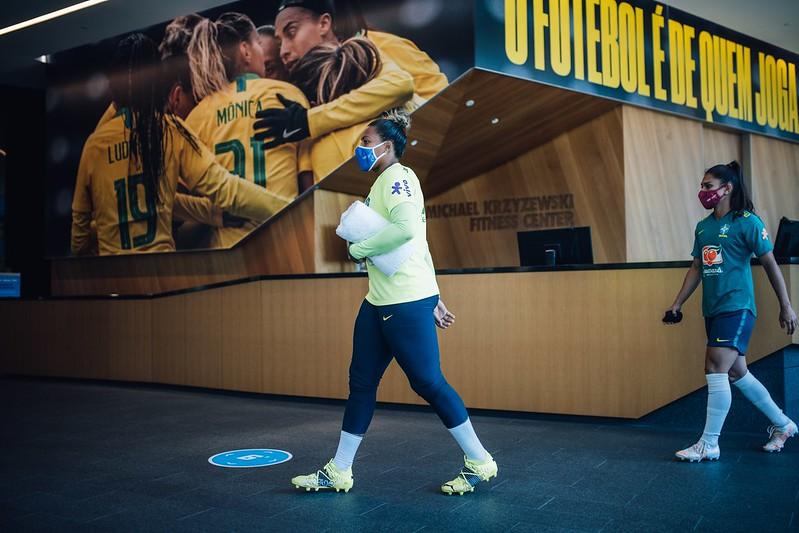 Seleção Feminina Principal faz primeiro treino em Portland Créditos: Sam Robles/CBF