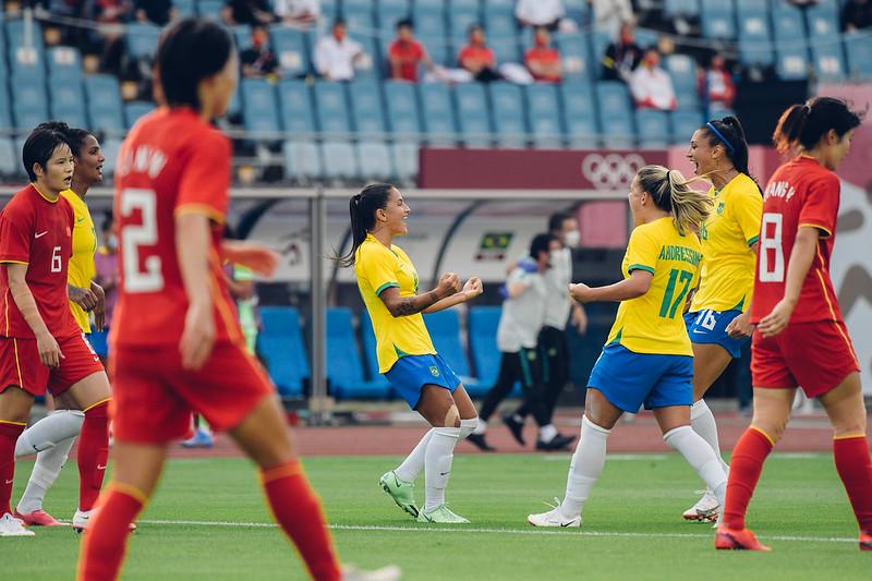 Brasil atropela a China na estreia do futebol nos Jogos Olímpicos - Olimpia Sports