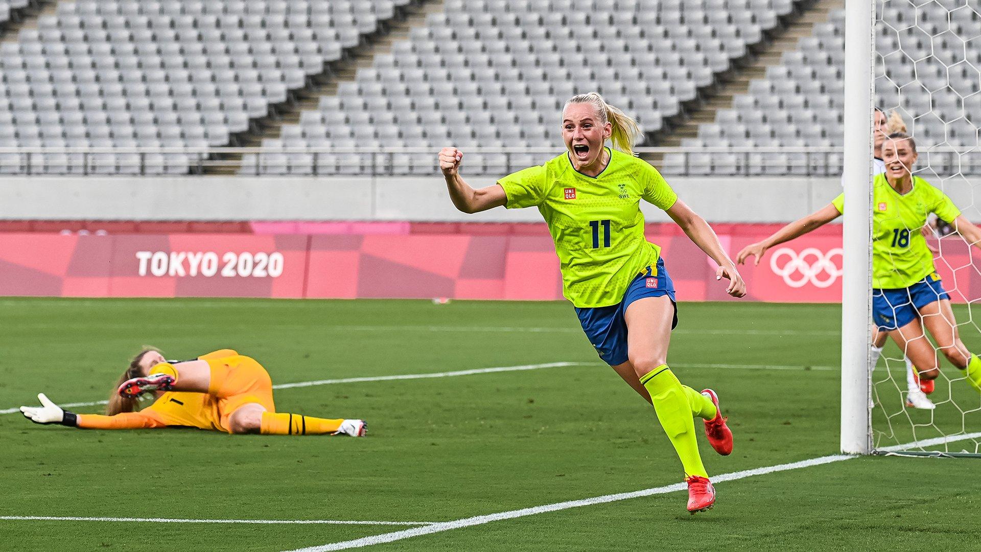 Suécia vence Estados Unidos | Foto: Divulgação / Svensk Fotboll
