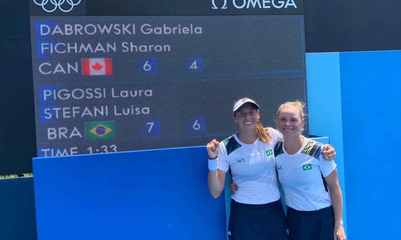 Luisa Stefani e Laura Pigossi - Tênis   Foto: Alexandre Castello Branco / COB
