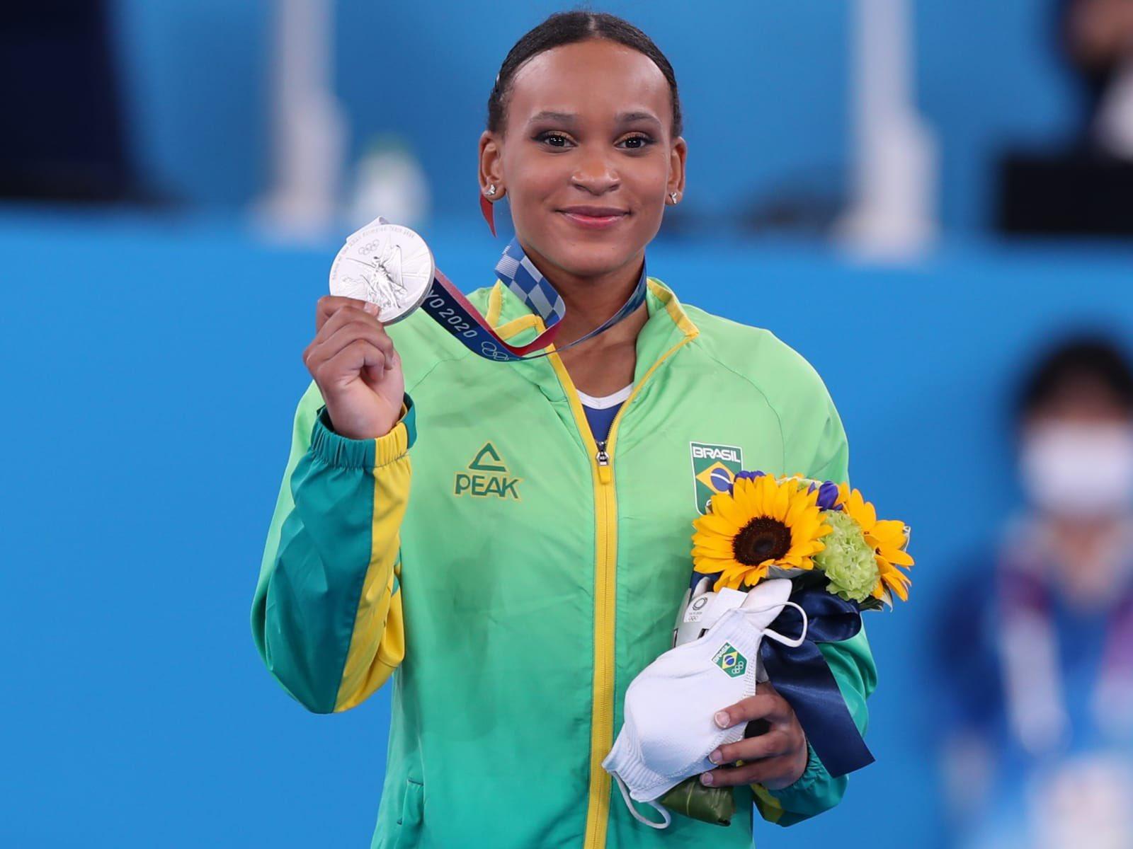 Rebeca Andrade medalha de prata em Tóquio Tokyo2020   Foto: Jonne Roriz / COB